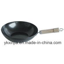 Utensílios de cozinha Aço Carbono Revestimento antiaderente Panelas Wok