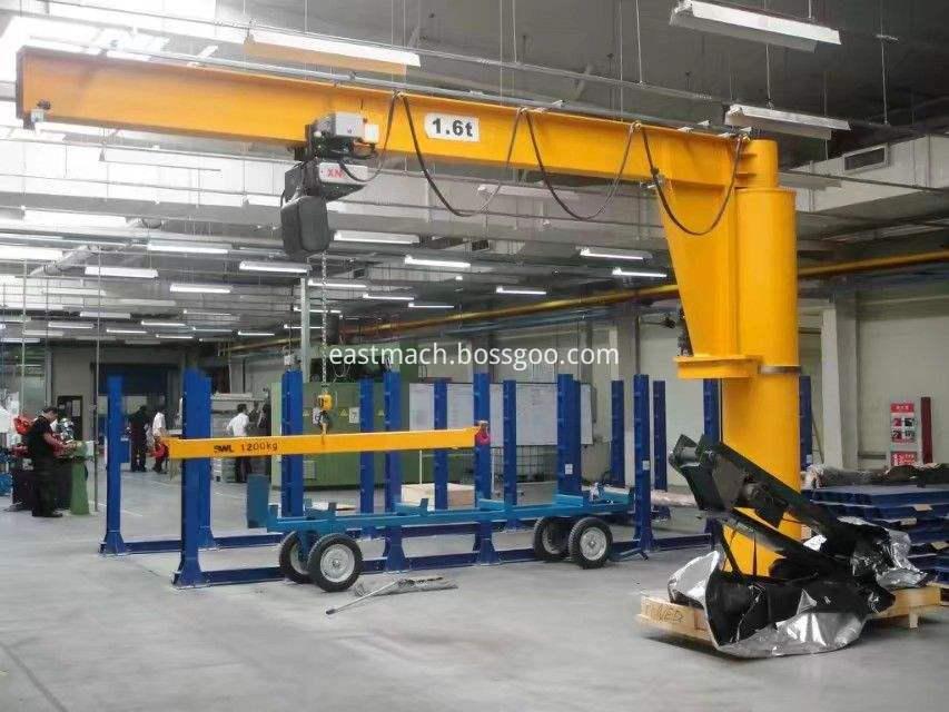 High Efficient Construction 16 T Electric Hoist Fixed Cantilever Crane Price With Hoist