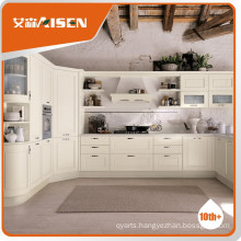 Various models 2015 modern style america white solid wood kitchen cabinet