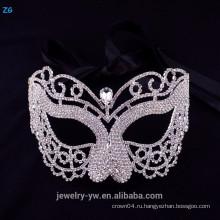 Оптовый маскарадный маска с кристаллом, неоновая маска для лица, хрустальная маска для лица
