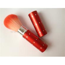 Alta qualidade vermelho punho facial escova retrátil