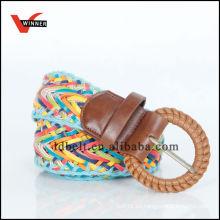 2014 Nuevas populares elegantes coloridos señoras trenzado Pu Wide Belt