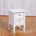Modern Bedroom Furniture End Table White Wooden Night Stand with 2 Drawers