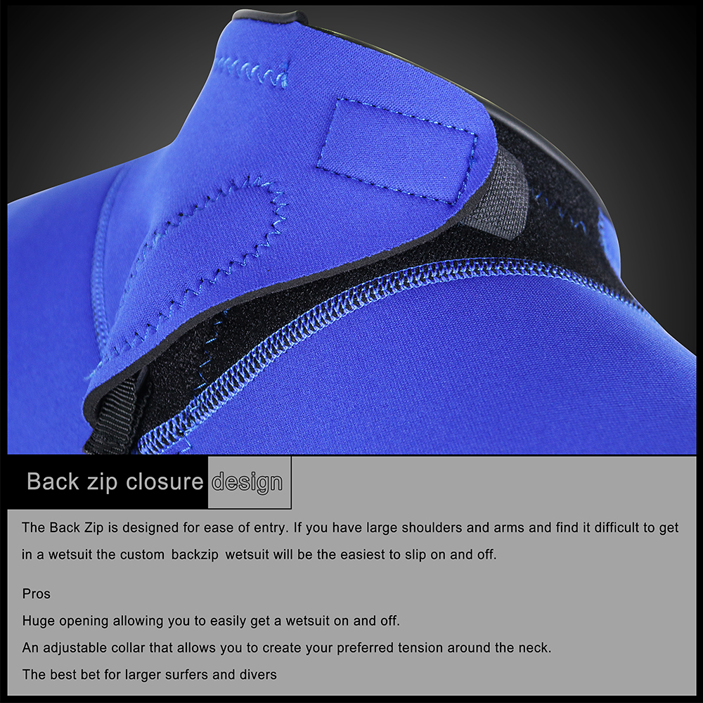 back zip velcro closure