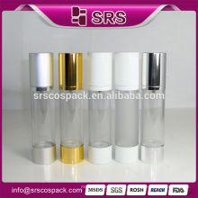 2015 novo produto garrafa de óleo de alumínio, 15ml 30ml 50ml 100ml airless óleo de oliva garrafas de plástico para cuidados da pele