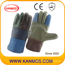 Rainbow Cowhide Furniture Industrial Safety Leather Work Gloves (31010)