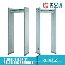 Alta sensibilidade 6/18 zonas de detecção Detector de metais do quadro da porta
