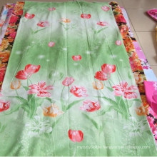 100% polyester printed fabric in stock