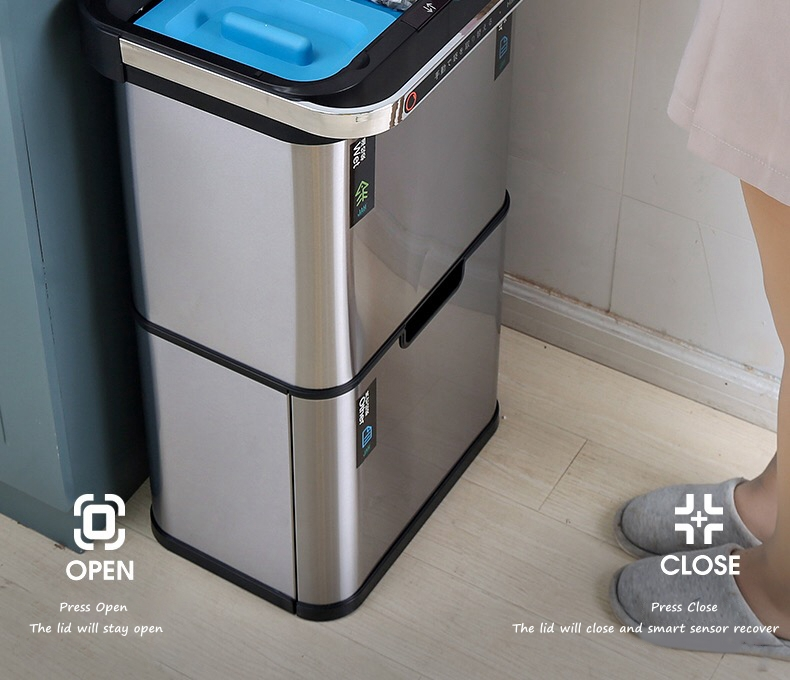 Stainless Steel Sensor Compost Bin