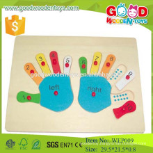 2015 top new product number learning hand puzzle educational wooden kids puzzle toys toys
