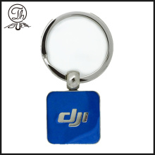 Square hard enamel key tags metal
