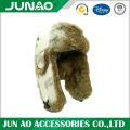 Rabbit fur hat with customized pattern