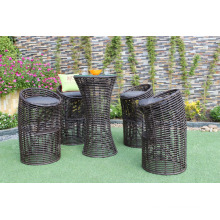 Exclusive Resin Rattan Bar Set For Outdoor Use