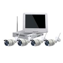 cámara de seguridad HD LCD Wireless cctv camera wifi kit de conexión de la cámara al aire libre