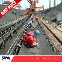L'industrie minière utilisé la bande transporteuse en caoutchouc résistant à l'abrasion pour la Corée