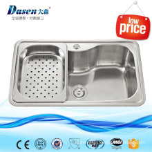 Indonesia Small Kitchen Appliances Enamel Steel Kitchen Sink With Strainer