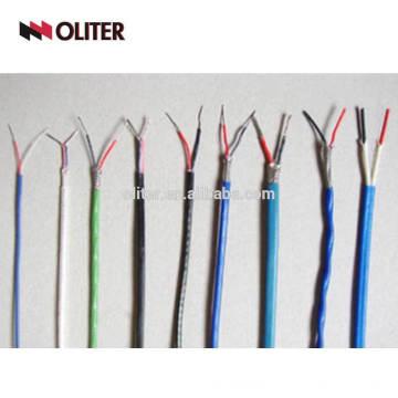 Cable de compensación de blindaje k tipo de cable de termopar