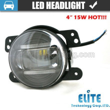 "15W 4"" motorcycle light led sealed beam for suv fog light"