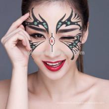 Autocollant de visage adapté aux besoins du client d'art spécial non-toxique coloré de lavage facile jetable