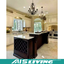 Professional Design Crown Moulding Wood Kitchen Cabinet (AIS-264)
