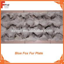 Blauer Fox-Pelz-Teller