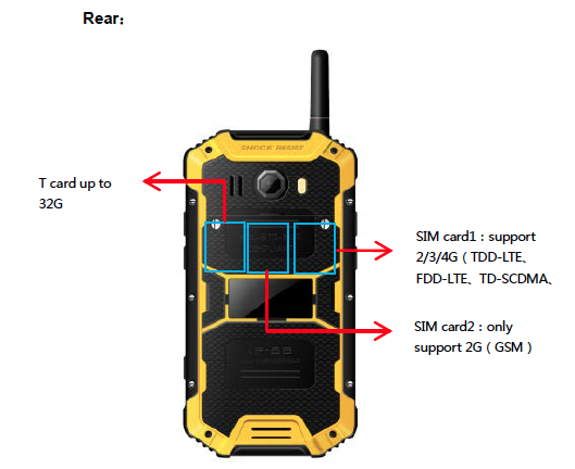 Rugged Android 3G phone IP68 waterproof