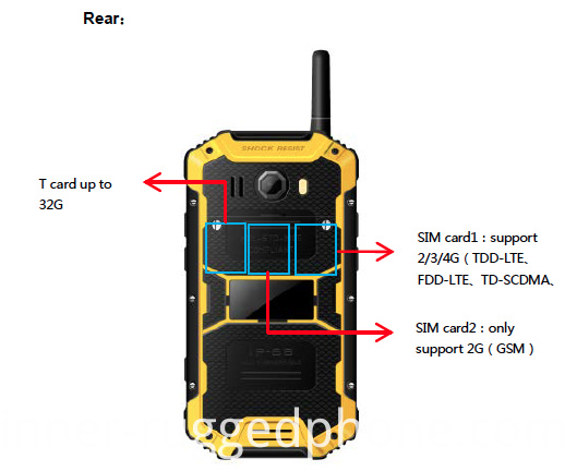 Industrial Designed Rugged mobile Phone