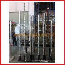 parafuso duplo cônico e cilindro / parafuso duplo paralelo e cilindro / parafuso único e cilindro