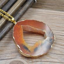 Fashion druzy crystal beads pendant, druzy stone charm, natural stone