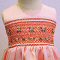 12 month-8 years customized pink Smocked Embroidered Dress