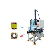 Machine de formage final automatique du bobinage du stator avec curseur