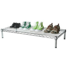 Chrome Modern Metal Iron Shoe Stand Rack for Home (LD904520A1C)