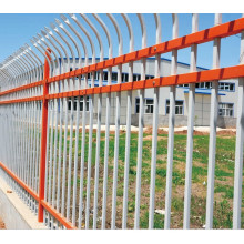 Anti-Theft Bending Top Powder Coated Steel Fence