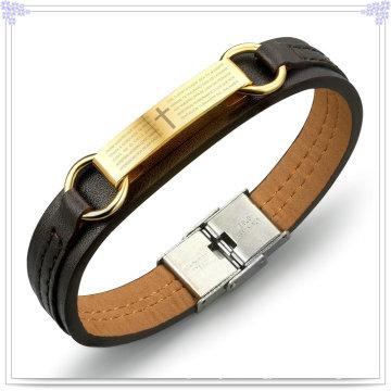 Fashion Jewelry Leather Jewelry Leather Bracelet (LB261)