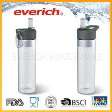 Fabricante barato de la botella plástica con la tapa de la paja fácil que bebe