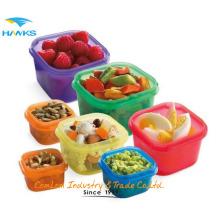 Vida saudável BPA Free 7-Piece Multi-Colored, Colored Portion Control Controle kit, prova de vazamento, 21 Day Planner