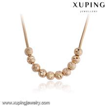 43459-alta qualidade de moda jóias de ouro 18k grande colar de contas redondas