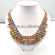 Collier de perles colorées