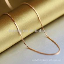 Ouro chapeado 925 corrente da prata esterlina corrente da prata da forma 2014