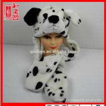 Peluche animal en forme de chien écharpe gants et chapeau pour enfants et adultes