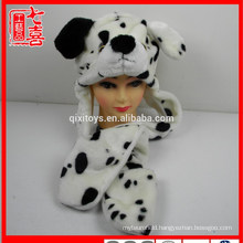 Plush animal shaped dog toy scarf gloves and hat for kids and adults