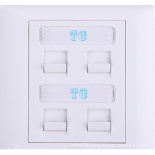High Quality 4-Digit Flat Faceplate