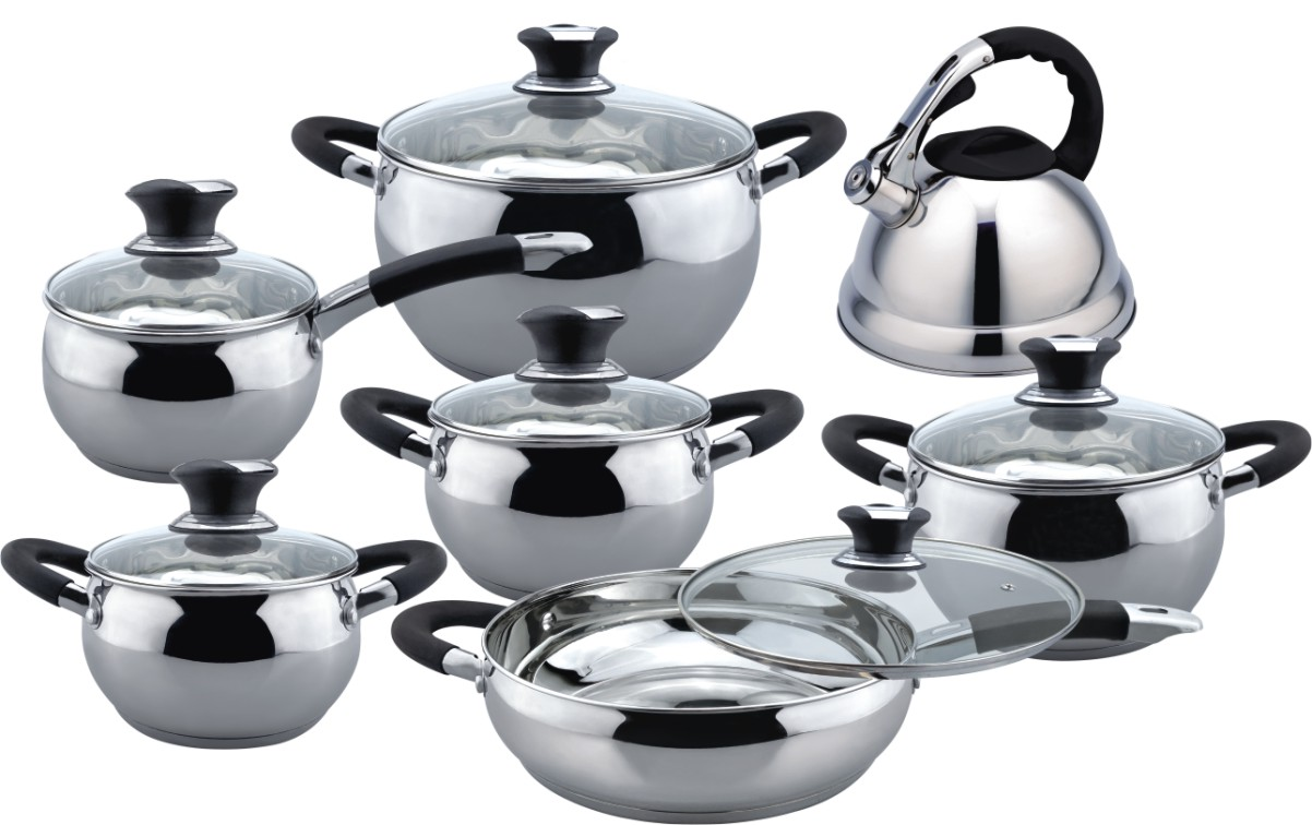 Economic apple shape 13 pcs cookware set