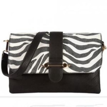 Hot Selling Fashion Zebra Stripe Ladies PU Satchel Bag (ZX20089)