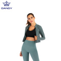 Hot Sale Zipper Langarm Yoga Wear