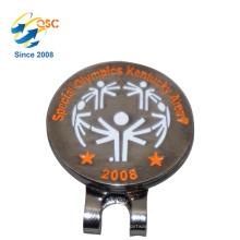 El marcador de encargo magnético de encargo barato de la pelota de golf de la fábrica vende al por mayor el clip del sombrero de golf