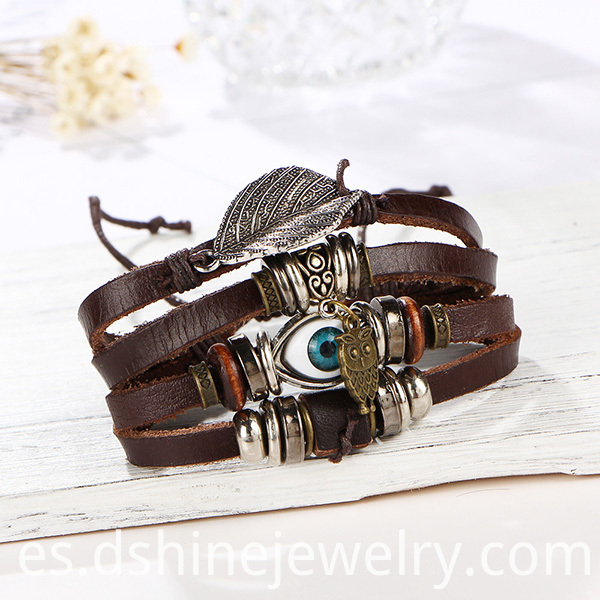 Wrap Leather Charm Bracelets