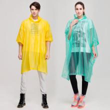 Poncho de lluvia de PVC verde duradero para hombre