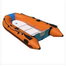 2014 Novo Design Popular Bonito Barco Inflável Laranja para Pesca