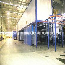 Système industriel de revêtement de poudre avec le four de traitement